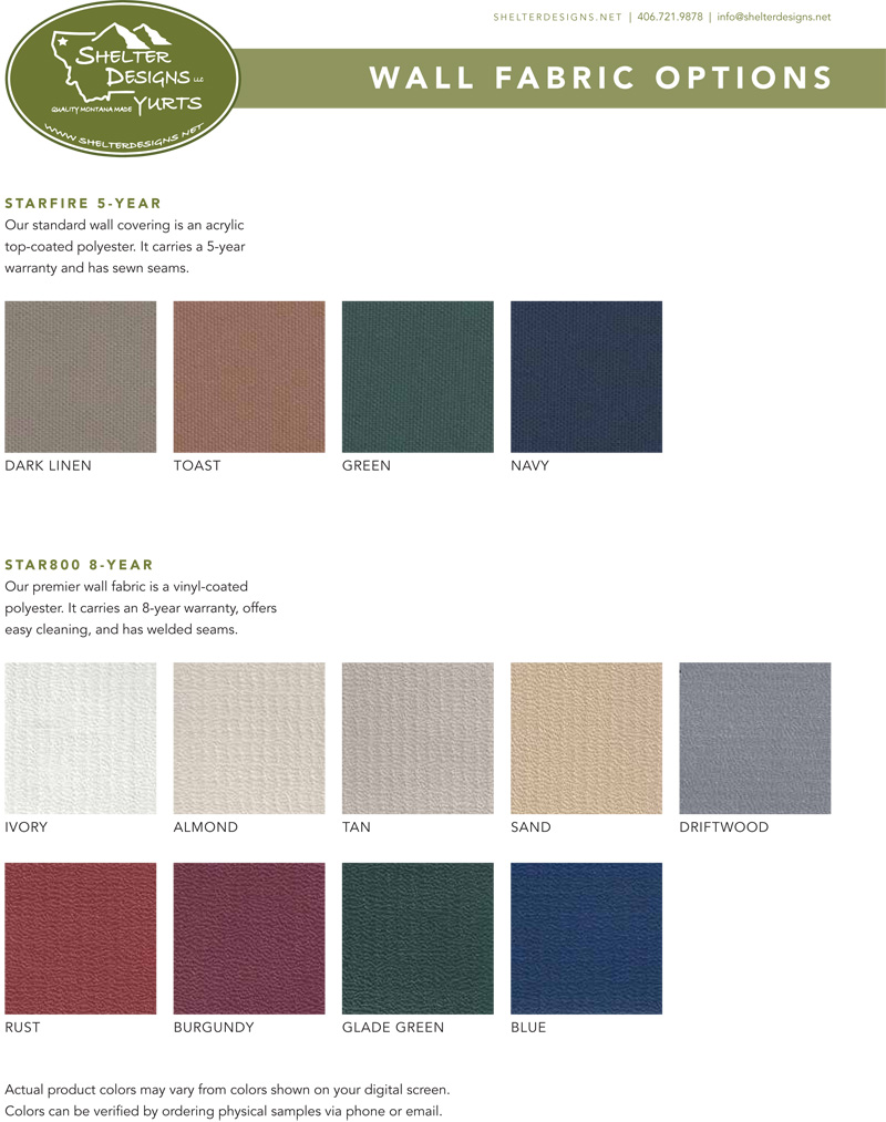 wall fabric color options