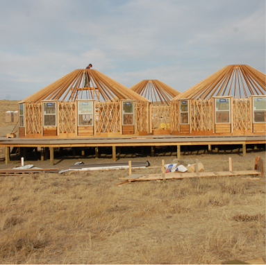 3 shelter designs yurts framed with windows installed