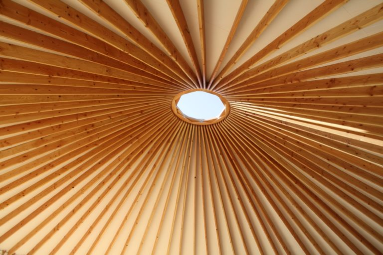 big sky yurt rafters and center ring