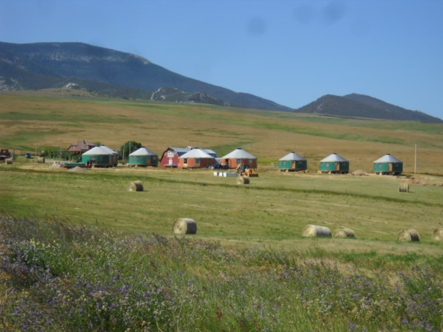 a group of shelter designs yurts on the plains