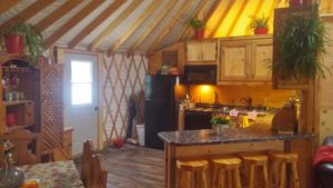 kitchen in a yurt house